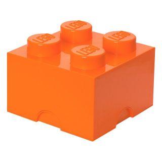 LEGO úložný box 250x250x180mm - oranžový