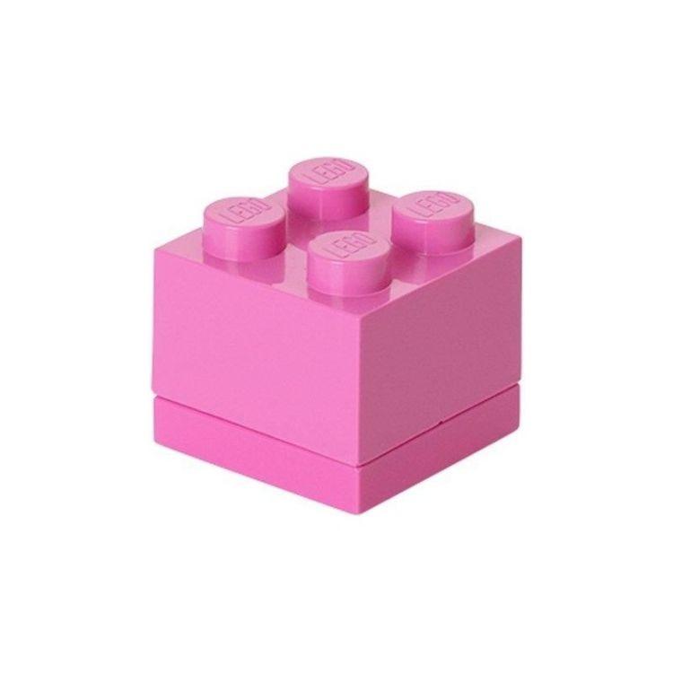 LEGO Mini Box 46x46x43mm - růžový