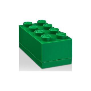LEGO Mini Box 46x92x43mm - tmavo zelený