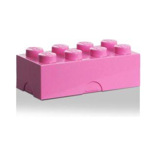 LEGO box na desiatu 100x200x75mm - ružový
