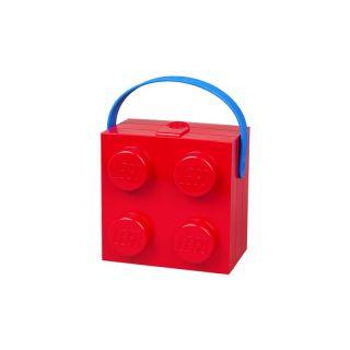 LEGO box s rukoväťou 166x165x117mm - červený
