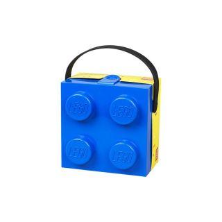LEGO box s rukoväťou 166x165x117mm - modrý