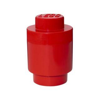 LEGO úložný box guľatý 123x183mm - červený