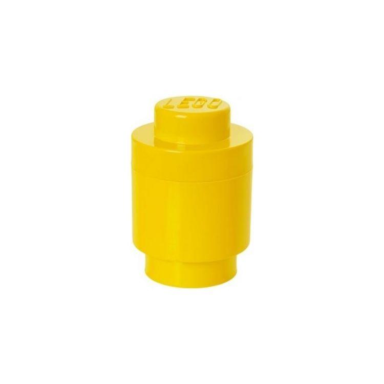 LEGO úložný box kulatý 123x183mm - žlutý
