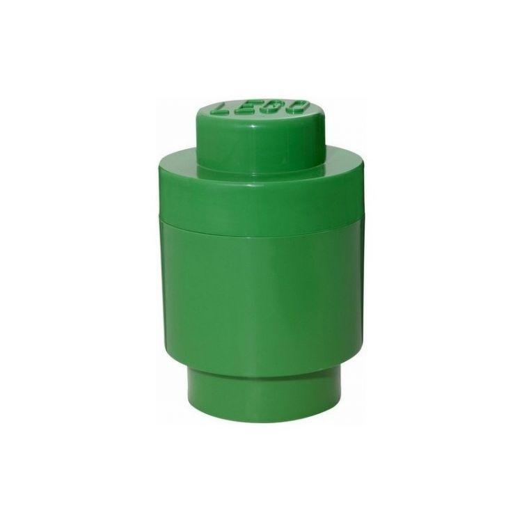 LEGO úložný box kulatý 123x183mm - tmavě zelený
