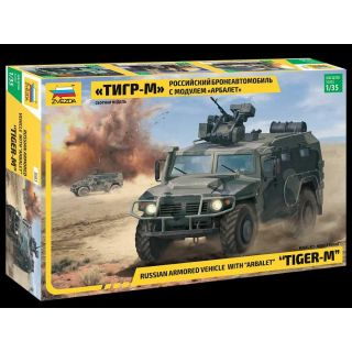 Model Kit military 3683 - GAZ Tiger w/Arbalet (1:35)