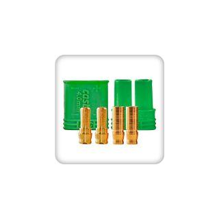 Castle pozlátený konektor 4mm (pár)