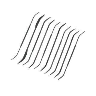 Modelcraft jehlové profilové zahnuté pilníky (sada 10ks)