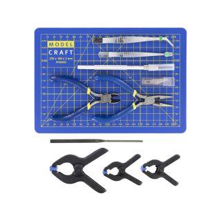 Modelcraft nářadí s řezací podložkou (sada 15ks)