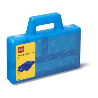 LEGO To Go úložný box s přihrádkami - modrá