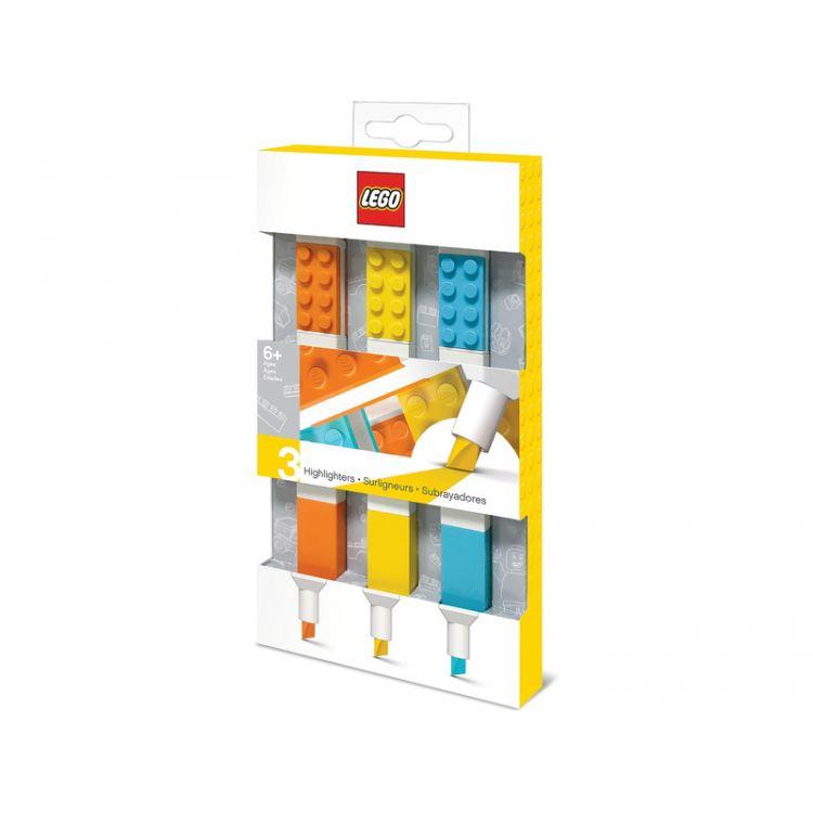 LEGO zvýrazňovače, mix barev 3ks