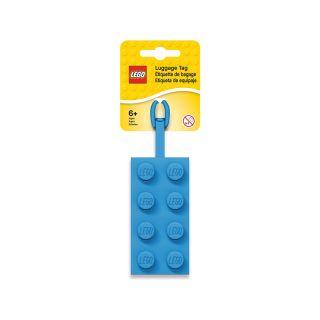 LEGO jmenovka na zavazadlo kostka 2x4 modrá