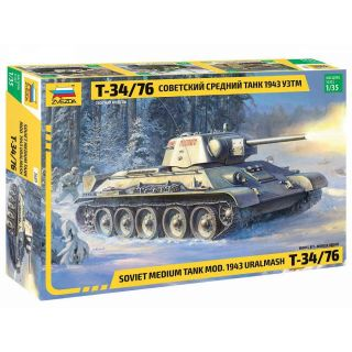 Model Kit tank 3689 - T-34/76 mod.1943 Uralmash (1:35)