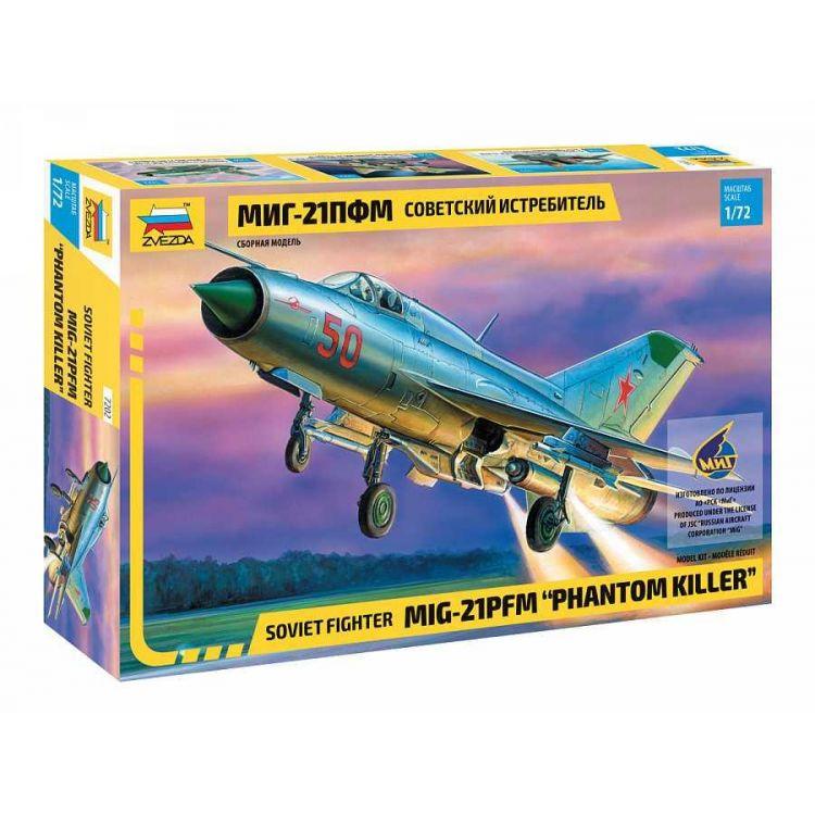 "Model Kit letadlo 7202 - MIG-21PFM ""PHANTOM KILLER"" (1:72)"