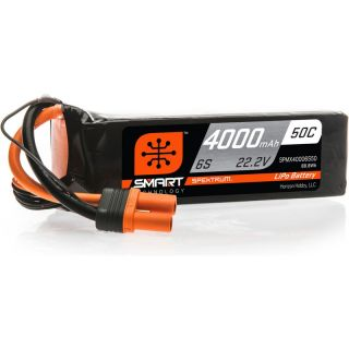 Spektrum Smart LiPo 22.2V 4000mAh 50C IC5