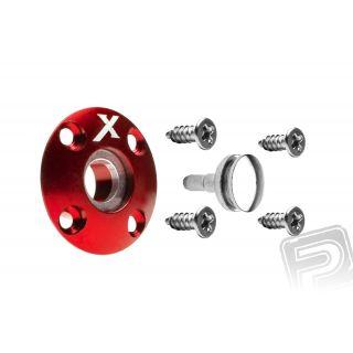 Tankovací ventil magnetický (X logo), červený