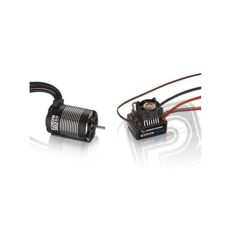 COMBO MAX10 s EZRUN 3652 SL 3300Kv - černý