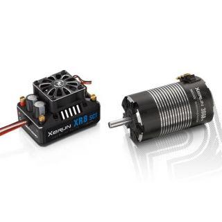 COMBO XR8 SCT s XERUN 3660 SD 3200Kv - G2 - černý - včetně 25z/48DP pastorku