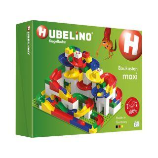 HUBELINO Kuličková dráha - set s kostkami Maxi 213 dílků