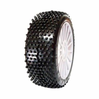 1/8 PREDATOR SPORT gumy nalepené gumy, bílé disky, 2ks.