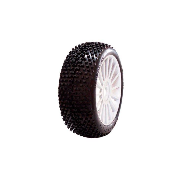 1/8 DEMOLITION SPORT gumy nalepené gumy, bílé disky, 2ks.