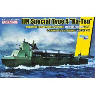 "Model Kit military 6849 - IJN SPECIAL TYPE 4 ""KA-TSU"" w/TORPEDO ""OPERATION TATSUMAKI""(1:35)"