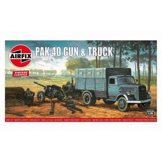 Classic Kit VINTAGE military A02315V - PAK 40 Gun & Truck (1:76)