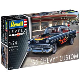 ModelSet auto 67663 - '56 Chevy Customs (1:24)
