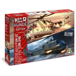 Model Kit vrtulníky War Thunder 35103 - UH-1C & MI-24D (1:72)