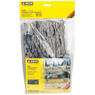 Skalná stena - vrstevnatá hornina (33x19 cm) NO58480