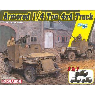Model Kit military 6727 - Armored 1/4-Ton 4x4 Truck 3v1 (1:35)