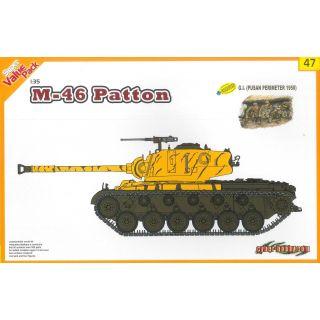 Model Kit tank 9147 - M46 Patton + G.I. (1:35)