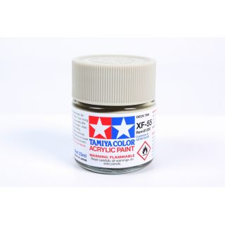 81355 XF-55 Flat Deck Tan (Light Brown) Tamiya Color Acrylic Paint 23ml