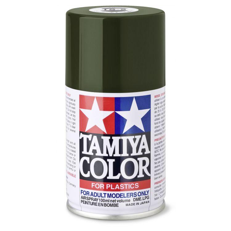 85002 TS 2 Dark Green Tamiya Color 100ml (Acrylic Spray Paint)