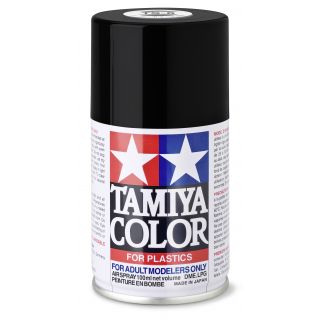 85006 TS 6 Flat Black Tamiya Color 100ml (Acrylic Spray Paint)