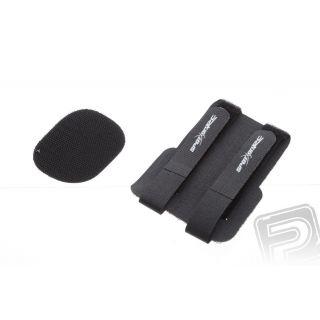 Dvojitý uťahovací suchý zips pre batérie, rx a nádrže (čierny)