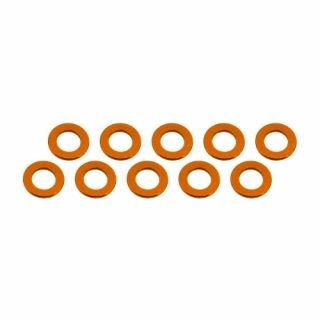 3x6x0,5mm alu podložky oranžové (10 ks.)