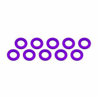 3x6x0,5mm alu podložky fialové (10 ks.)