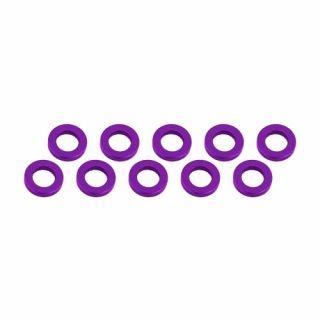 3x6x1mm alu podložky fialové (10 ks.)
