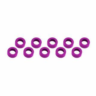 3x6x2mm alu podložky růžové (10 ks.)