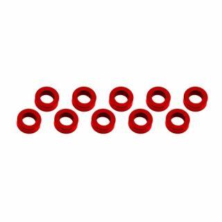 3x6x2mm alu podložky červené (10 ks.)