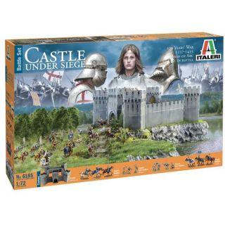 Model Kit diorama 6185 - 100 YEARS' WAR Castle under siege (1:72)