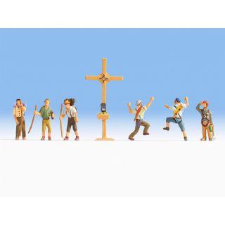Horolezci a kríž NO15874