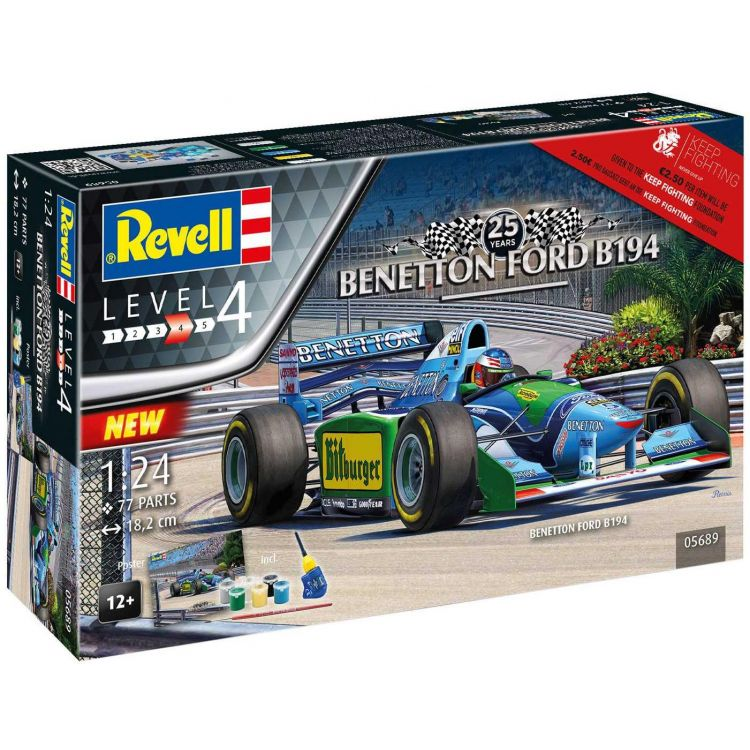 "Gift-Set auto 05689 - 25th Anniversary ""Benetton Ford"" (1:24)"