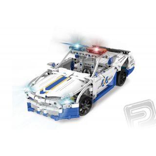Policejní vůz - RC stavebnice z kostek