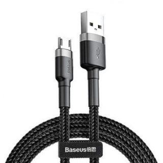 Cafule kabel USB do Micro 2.4A 0.5m (šedo-černý)