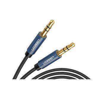 UGREEN stereo audio kabel 3.5mm jack 1m, modrý
