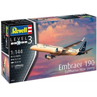 Modelset letadlo 63883 - Model Set Embraer 190 Lufthansa (1:144)