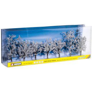 Zimné stromčeky 7 ks, 8 - 10 cm  NO25075