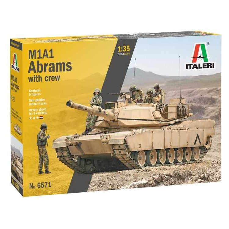 Model Kit tank 6571 - M1A2 ABRAMS with crew (1:35)